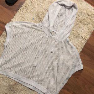 Work out crop-top hoodie shirt